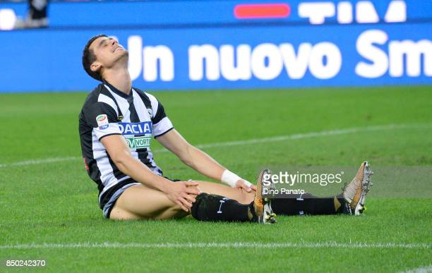 Kevin Lasagna of Udinese Calcio shows his dejectionduring the Serie A match between Udinese Calcio and Torino FC at Stadio Friuli on September 20...