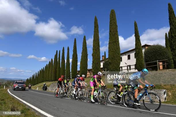 Kevin Ledanois of France and Team Arkea - Samsic, Philipp Walsleben of Germany and Team Alpecin-Fenix, Simone Bevilacqua of Italy and Team Vini Zabu'...