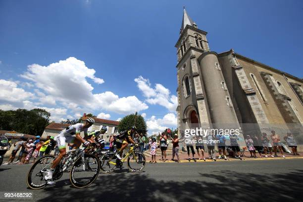 Kevin Ledanois of France and Team Fortuneo Samsic / Yoann Offredo of France and Team Wanty Groupe Gobert / Jerome Cousin of France and Team Direct...