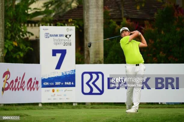 Kevin Lee of Korea pictured during the first round of the Bank BRI Indonesia Open at Pondok Indah Golf Course on July 12 2018 in Jakarta Indonesia