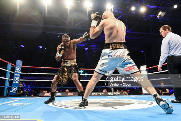 Kevin Lele Sadjo and Shamil Ismailov during the Main Event 5 in Salle Marcel Cerdan on January 19 2018 in Paris France