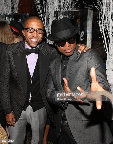 Kevin Lies EVP of Warner Music Group and Recording artist NeYo attend NeYo's 30th Birthday Bash Cold As Ice at Cipriani 42nd Street on October 17...