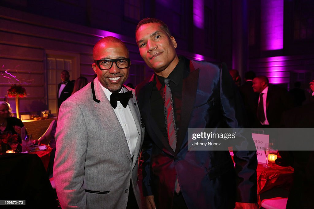 Kevin Liles and Paxton Baker attend the 2013 BET Networks Inaugural Gala at Smithsonian National Museum Of American History on January 21, 2013 in Washington, United States.