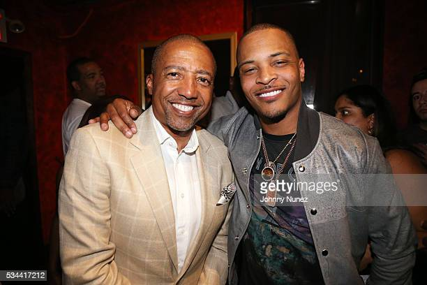 Kevin Liles and TI backstage at Irving Plaza on May 25 2016 in New York City