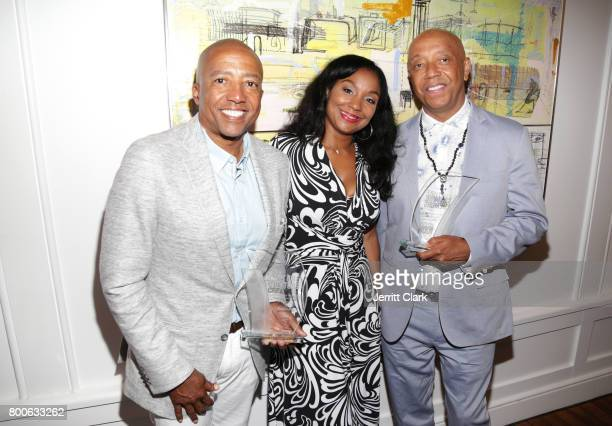 Kevin Liles Joi Brown and Russell Simmons attend the Culture Creators 2nd Annual Awards Brunch Presented By Motions Hair And Ciroc at Mr C Beverly...