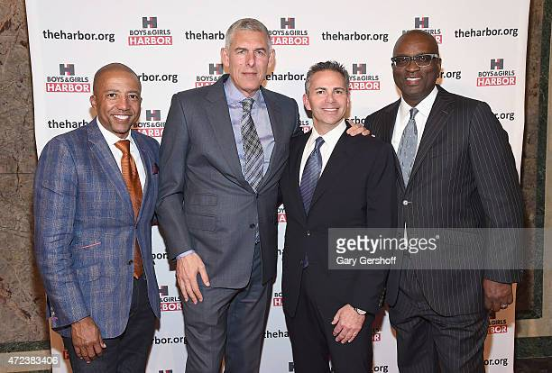 Kevin Liles Lyor Cohen David Weinreb and DrThomas Howard Jr attend the 2015 Boys Girls Harbor Salute To Achievement Benefit at The Plaza Hotel on May...
