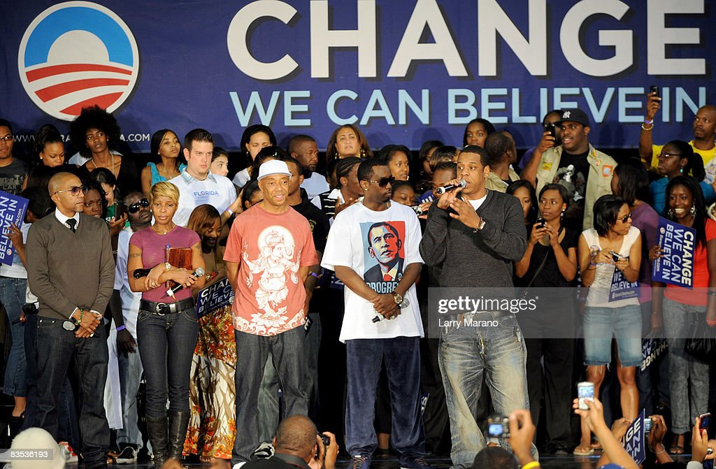 """Last Chance For Change Rally With Jay-Z And Sean """"Diddy"""" Combs And Mary J. Blige : News Photo"""