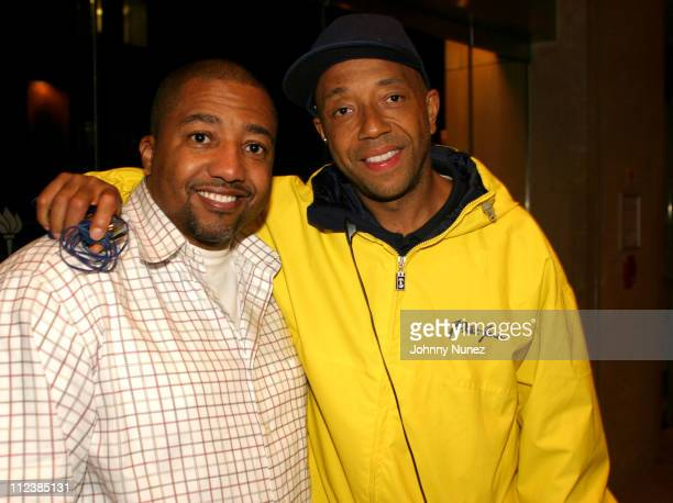 Kevin Liles of Def Jam and Russell Simmons during Def Films Presents 'FEDS Documentary' Screening at Skirball Center in New York City New York United...