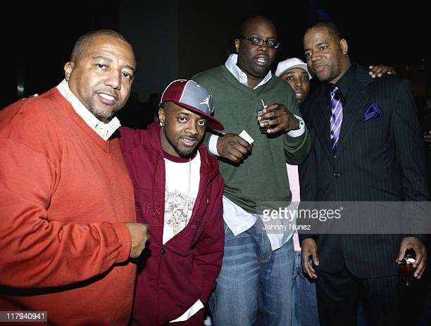 Kevin Liles of Warner Bros Jermaine Dupri Michael Kyser of Def Jam Eddie Weathers of So So Def and Ed Lover of WWPR