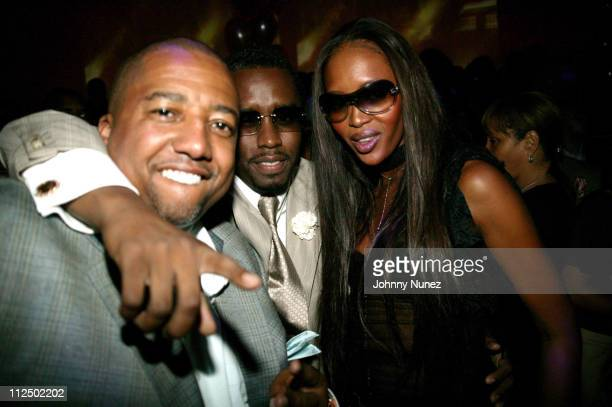 Kevin Liles Sean 'PDiddy' Combs and Naomi Campbell