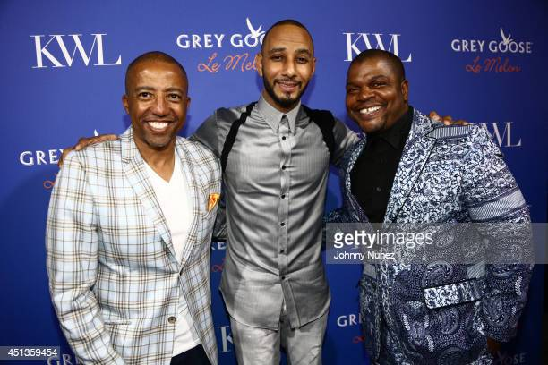 Kevin Liles Swizz Beatz and Kehinde Wiley attends the GREY GOOSE Le Melon Toast to Musician Swizz Beatz with art commissioned by award winning artist...