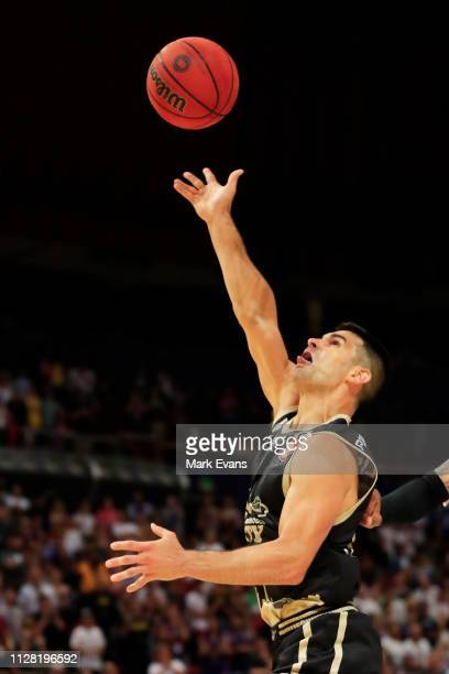 Kevin Lisch of the Kings goes for a layup the round 17 NBL match between the Sydney Kings and Melbourne United at Qudos Bank Arena on February 08...