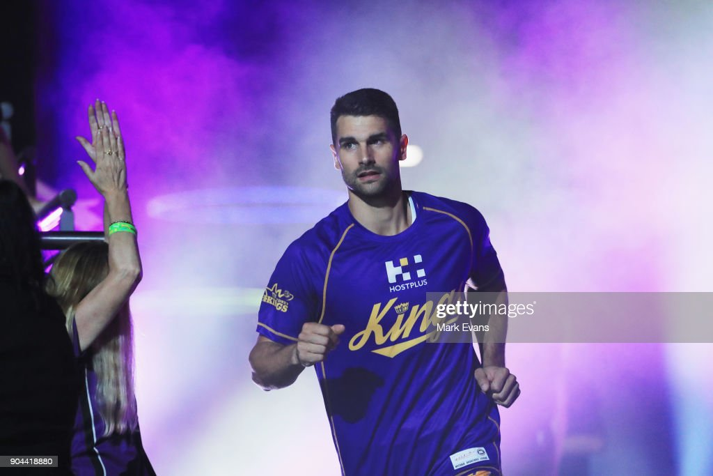 Kevin Lisch of the Sydney Kings enters the arena during the round 14 NBL match between the Sydney Kings and the Adelaide 36ers at Qudos Bank Arena on January 13, 2018 in Sydney, Australia.