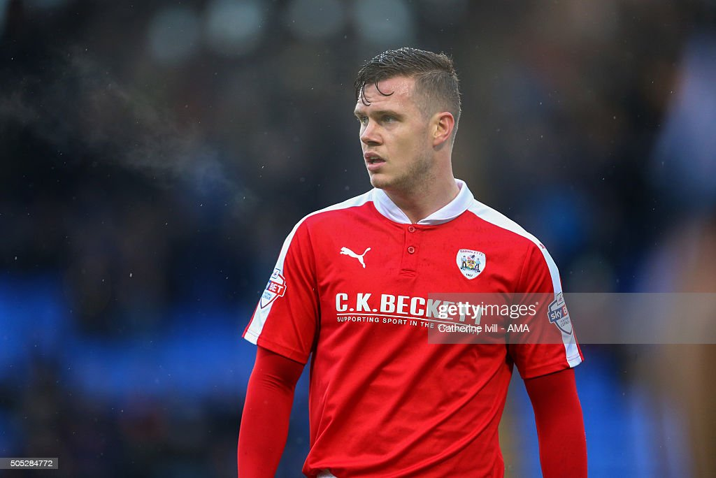 Kevin Long of Barnsley during the Sky Bet League One match between Shrewsbury Town and Barnsley at New Meadow on January 16, 2016 in Shrewsbury, England.