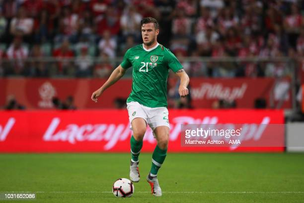 Kevin Long of Republic of Ireland in action during the international friendly match between Poland and Republic of Ireland at the Stadion Miejski on...