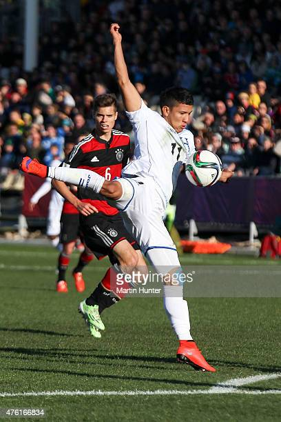 Kevin Lopez of Honduras controls the ball during the FIFA U20 World Cup New Zealand 2015 Group F match between Honduras and Germany on June 7 2015 in...