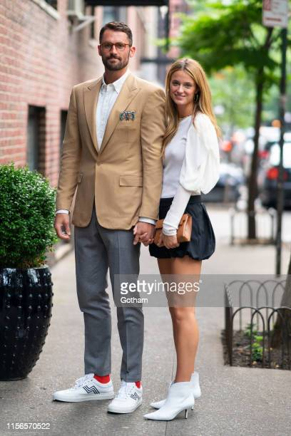 Kevin Love and Kate Bock are seen in SoHo on June 17 2019 in New York City