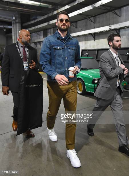 Kevin Love arrives to the NBA AllStar Game 2018 at Staples Center on February 18 2018 in Los Angeles California