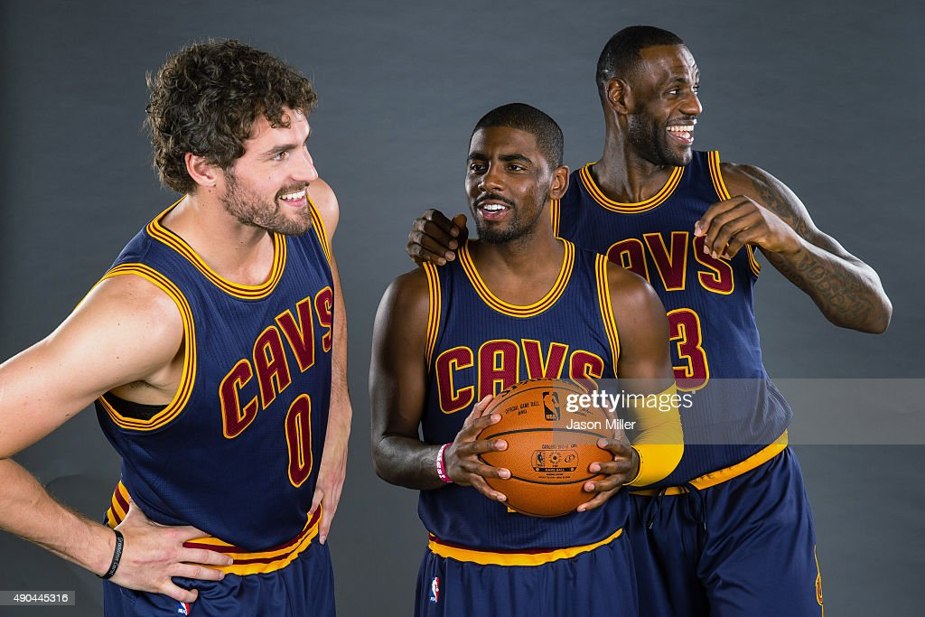 Kevin Love Kyrie Irving And Lebron James Of The Cleveland Cavaliers