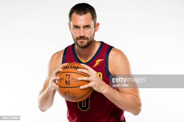 Kevin Love of the Cleveland Cavaliers poses during media day at Cleveland Clinic Courts on September 25 2017 in Independence Ohio NOTE TO USER User...