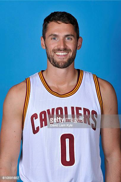 Kevin Love of the Cleveland Cavaliers poses for a headshot during the Cavaliers 20162017 Media Day at The Cleveland Clinic Courts on September 26...