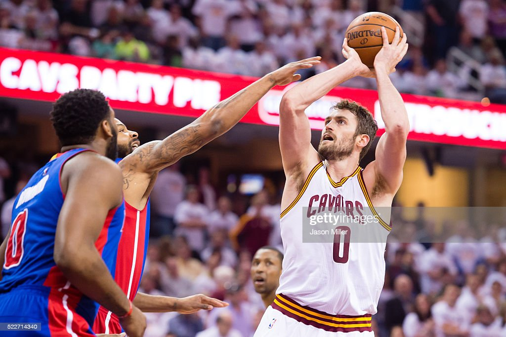 Detroit Pistons v Cleveland Cavaliers - Game Two : News Photo