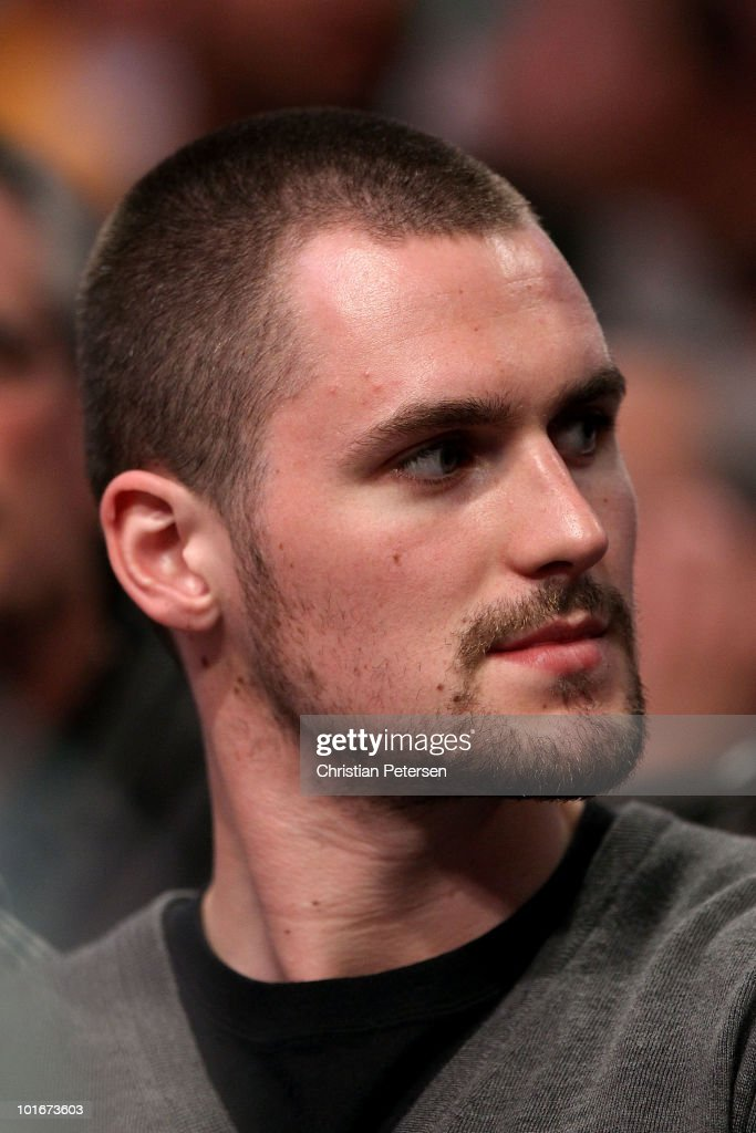 Kevin Love of the Minnesota Timberwolves attends Game Two of the 2010 NBA Finals between the Boston Celtics and the Los Angeles Lakers at Staples Center on June 6, 2010 in Los Angeles, California.