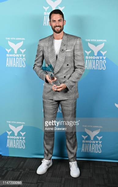 Kevin Love poses backstage in the Winner's Cave during the 11th Annual Shorty Awards on May 05, 2019 at PlayStation Theater in New York City.