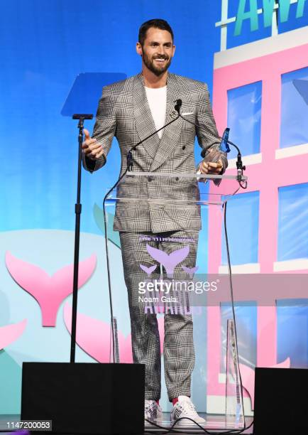 Kevin Love speaks onstage during the 11th Annual Shorty Awards on May 05 2019 at PlayStation Theater in New York City
