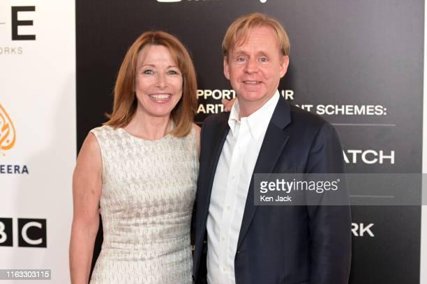 Kevin Lygo Director of Television ITV and Sky News presenter Kay Burley at the Edinburgh TV Festival on August 23 2019 in Edinburgh Scotland