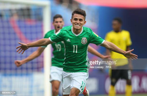 Kevin Magana of Mexico celebrates after scoring the opening goal during the FIFA U20 World Cup Korea Republic 2017 group B match between of Vanuatu...