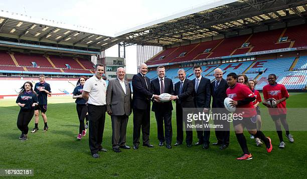 Kevin Maggs of Moseley Rugby Club Peter Grace Chairman of Birimingham Rugby Partnership Ian Metcacalfe RFU Paul Faulkner CEO of Aston Villa Ian Ward...