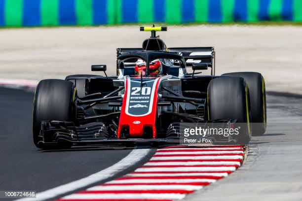 Kevin Magnussen of Denmark and Haas during final practice for the Formula One Grand Prix of Hungary at Hungaroring on July 28 2018 in Budapest Hungary