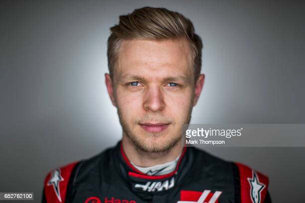 Kevin Magnussen of Denmark and Haas F1 poses for a portrait during day two of Formula One winter testing at Circuit de Catalunya on March 8 2017 in...