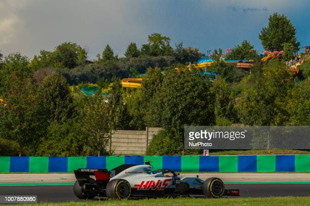 Kevin Magnussen of Denmark and Haas F1 Team driver goes during the race at Hungarian Rolex Formula 1 Grand Prix on Jul 29 2018 in Mogyoród Hungary