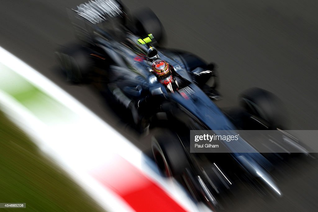 Kevin Magnussen of Denmark and McLaren drives during Practice ahead of the F1 Grand Prix of Italy at Autodromo di Monza on September 5, 2014 in Monza, Italy.