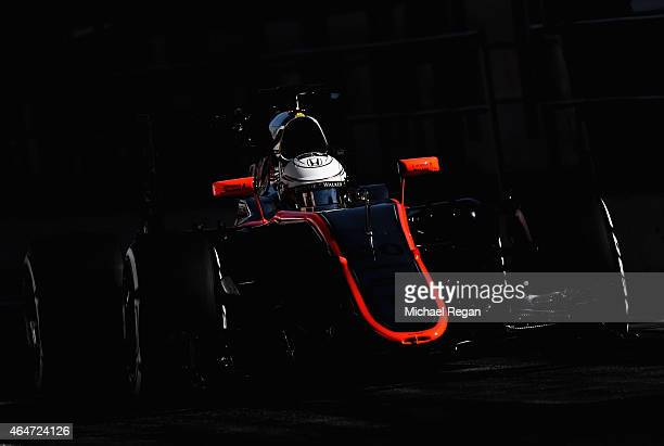 Kevin Magnussen of Denmark and McLaren Honda drives during day three of the final Formula One Winter Testing at Circuit de Catalunya on February 28...