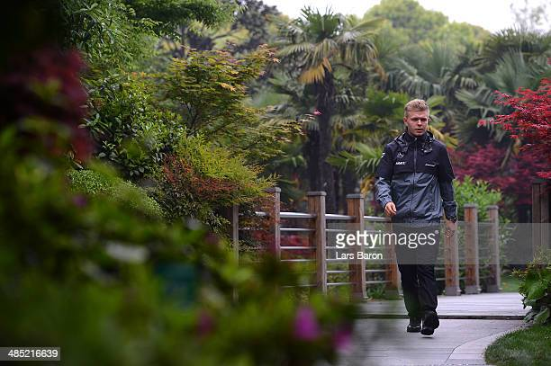 Kevin Magnussen of Denmark and McLaren pictured ahead of the Chinese Formula One Grand Prix at the Shanghai International Circuit on April 17 2014 in...