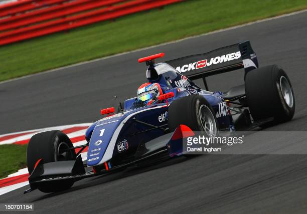 Kevin Magnussen of Denmark drives the Carlin Dallara Renault T12 during practice for the Formula Renault 35 Championship race at the Silverstone...