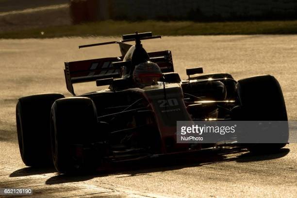 Kevin Magnussen of Denmark driving the Haas F1 Team HaasFerrari VF17 Ferrari in action during the Formula One winter testing at Circuit de Catalunya...