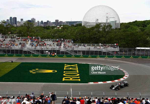 Kevin Magnussen of Denmark driving the Haas F1 Team HaasFerrari VF17 Ferrari on track during practice for the Canadian Formula One Grand Prix at...