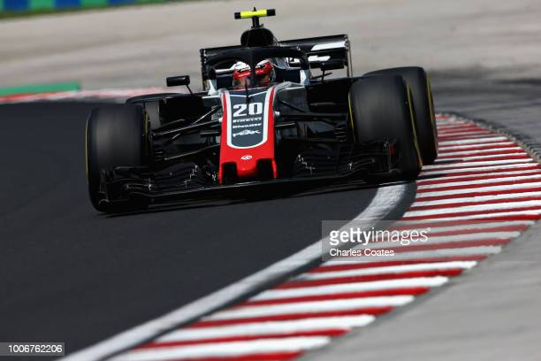 Kevin Magnussen of Denmark driving the Haas F1 Team VF18 Ferrari on track during final practice for the Formula One Grand Prix of Hungary at...