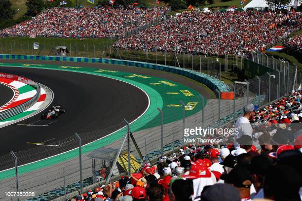Kevin Magnussen of Denmark driving the Haas F1 Team VF18 Ferrari on track during the Formula One Grand Prix of Hungary at Hungaroring on July 29 2018...