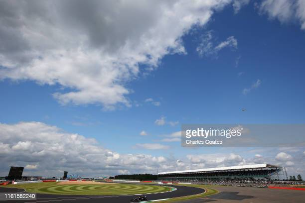 Kevin Magnussen of Denmark driving the Haas F1 Team VF19 Ferrari on track during practice for the F1 Grand Prix of Great Britain at Silverstone on...