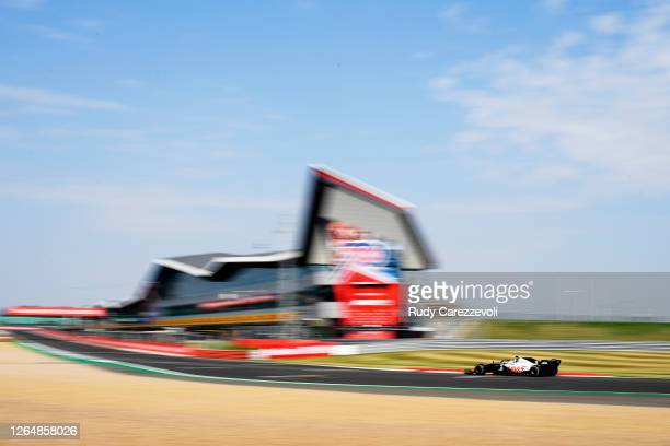 Kevin Magnussen of Denmark driving the Haas F1 Team VF-20 Ferrari on track during the F1 70th Anniversary Grand Prix at Silverstone on August 09,...