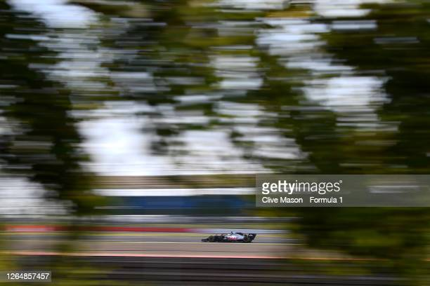 Kevin Magnussen of Denmark driving the Haas F1 Team VF-20 Ferrari during the F1 70th Anniversary Grand Prix at Silverstone on August 09, 2020 in...