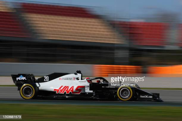 Kevin Magnussen of Denmark driving the Haas F1 Team VF20 on track during day five of F1 Winter Testing
