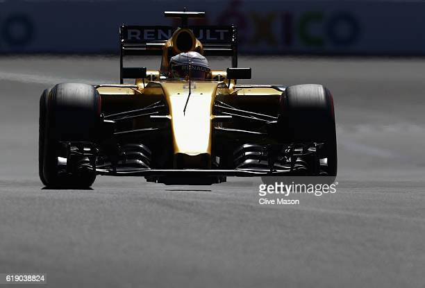 Kevin Magnussen of Denmark driving the Renault Sport Formula One Team Renault RS16 Renault RE16 turbo on track during qualifying for the Formula One...