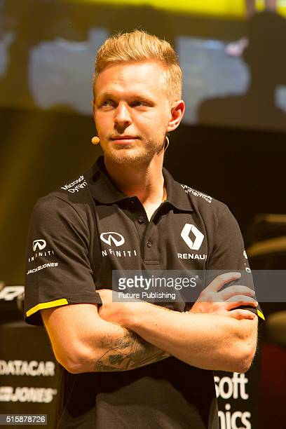 Kevin Magnussen of Renault F1 team at the unveiling of their new livery for the 2016 season on March 16 2016 in Melbourne Australia UK Office London...