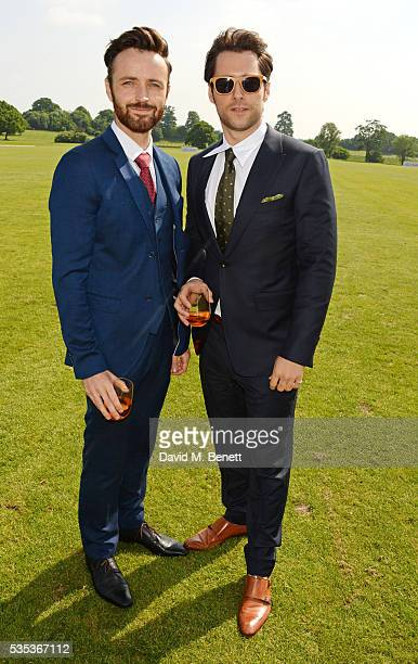 Kevin Mains and Richard Rankin attend day two of the Audi Polo Challenge at Coworth Park on May 29 2016 in London England